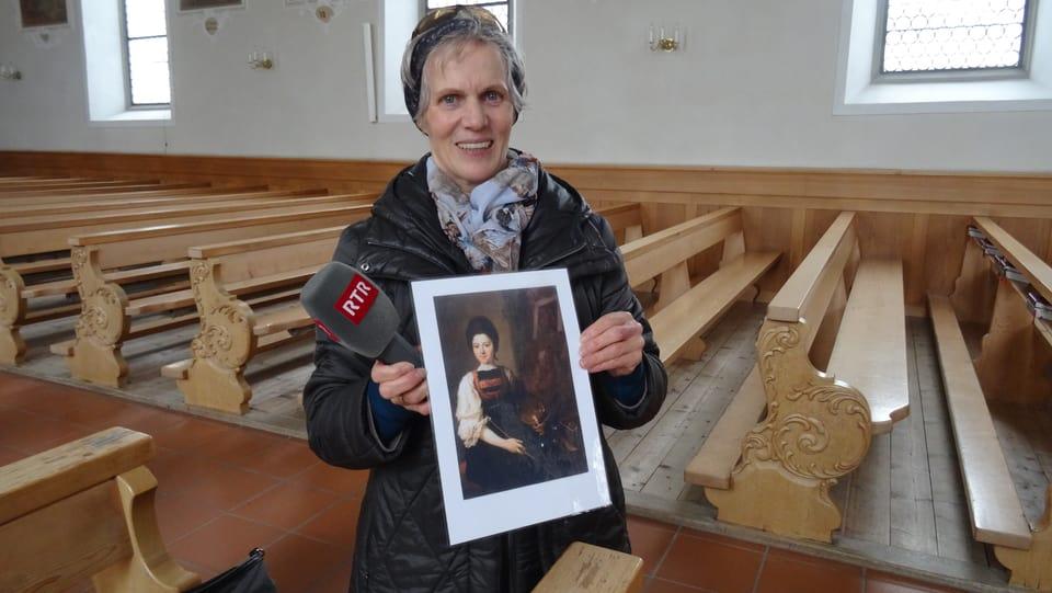 Herma Feurstein tegn in autopurtret d'Angelika Kauffmann