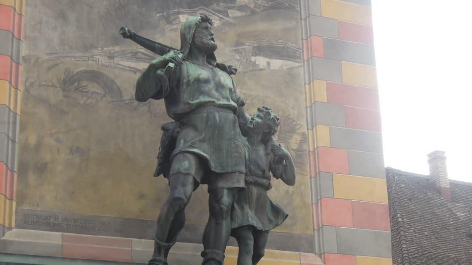 Statua da Guglielm Tell e ses figl ad Altdorf