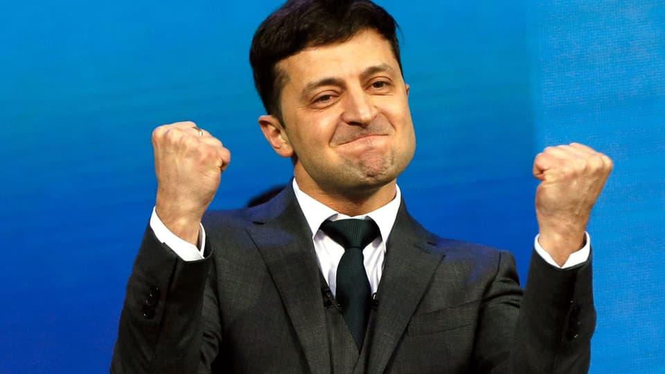Stichwahl in der Ukraine - TV-Star Selenski laut Prognosen neuer Präsident