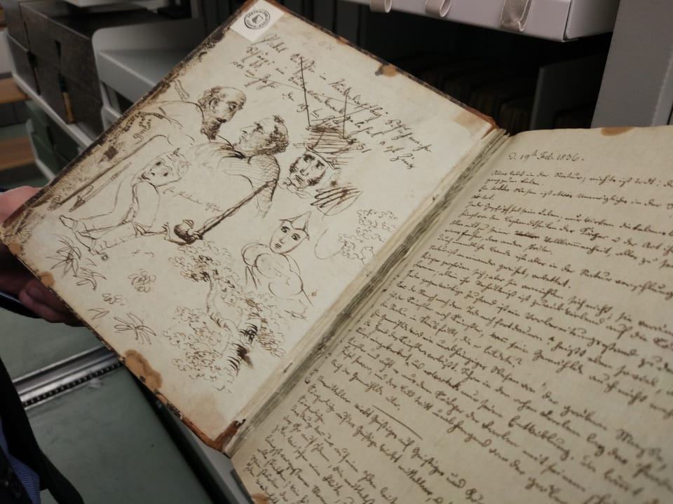 Tagebuch Gottfried Keller, Handschriftensammlung.