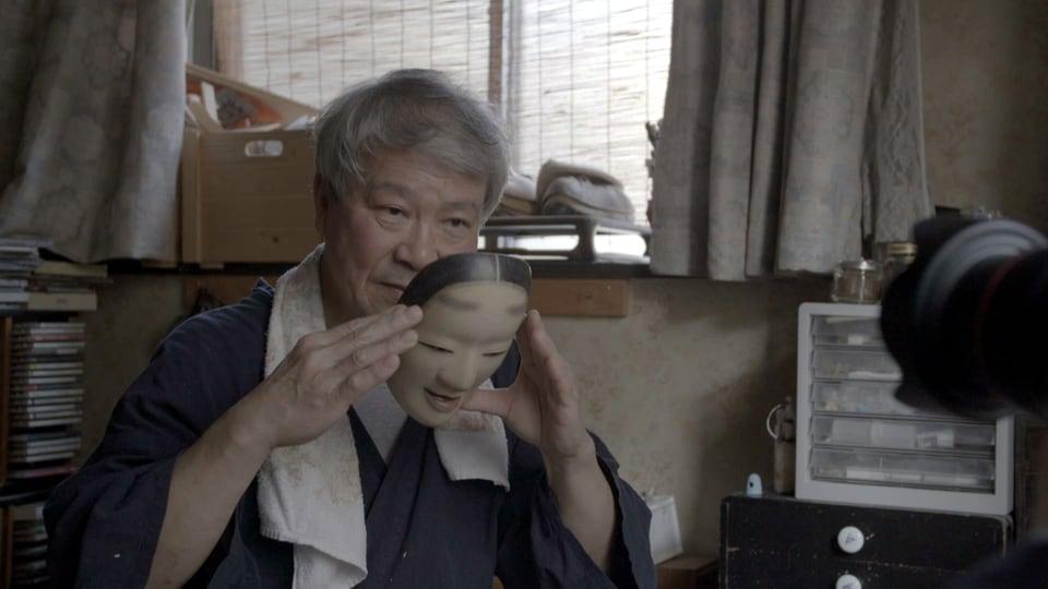 Noh-Masken-Schnitzer Yasuo Miichi in Osaka