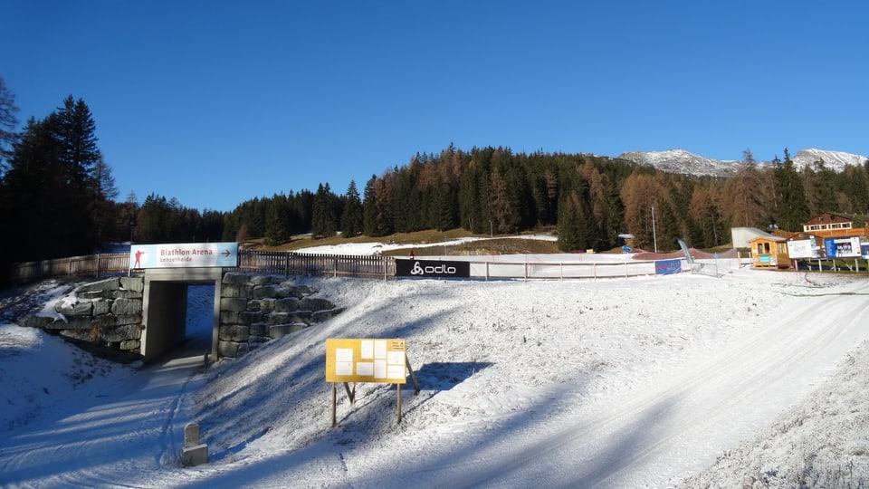L'arena da biatlon a Lantsch.