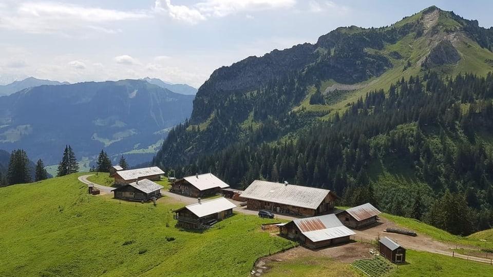Die Alp Morgeten im Berner Simmental