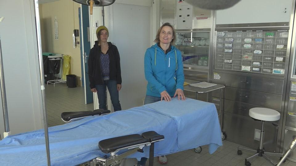 Biologin France Mercier & Ärztin Anne-Claire Barets, Crozet