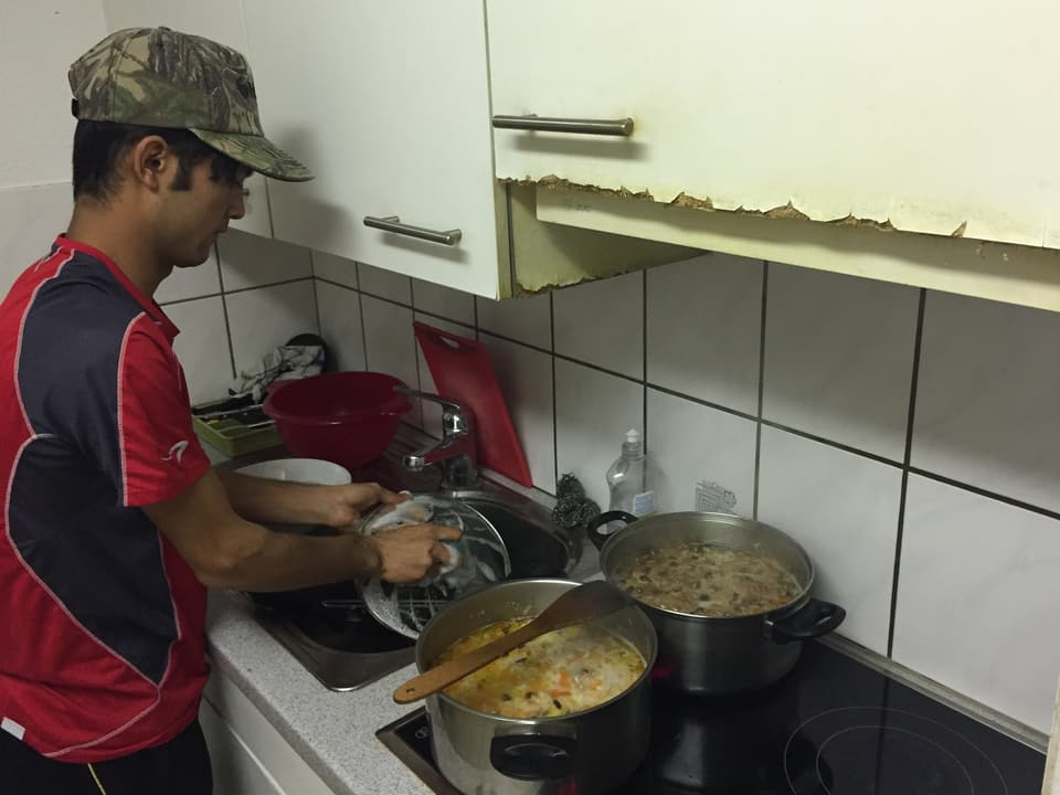 Jawad in seiner Küche.