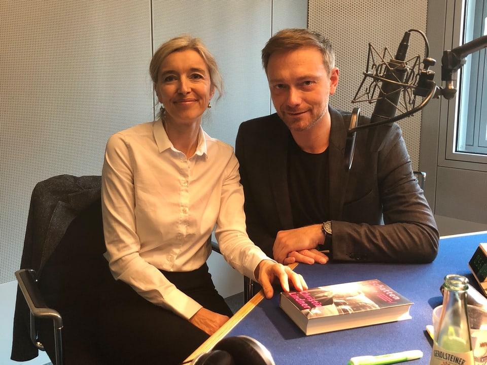 «Focus»-Macherin Anita Richner traf Christian Lindner im ARD-Hauptstadtstudio in Berlin.