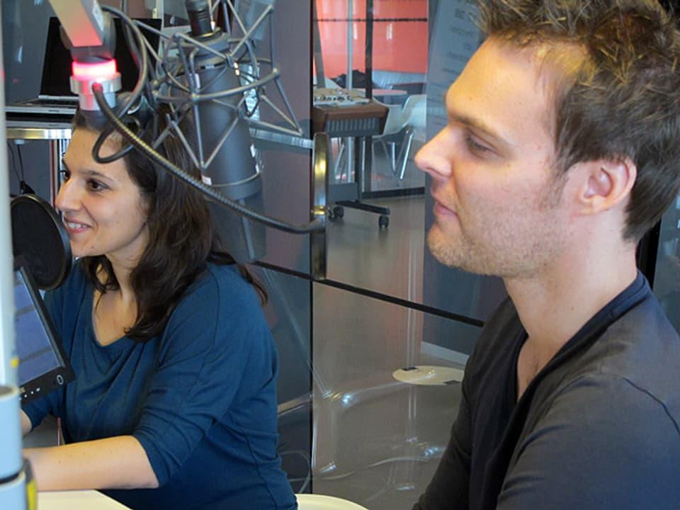 Sandra Borgia im Studio.