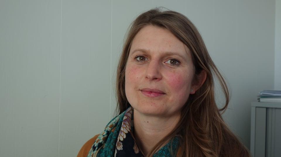Rebecca Göpfert che presidiescha la PRE Beverin.