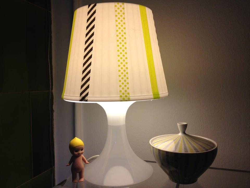 Lampenschirm verziert.