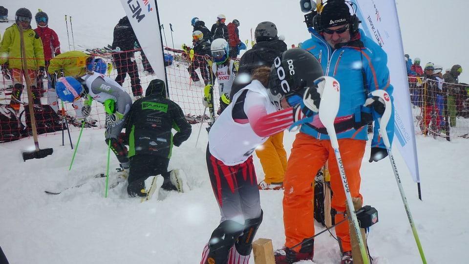 Gianna Candinas sin skis.