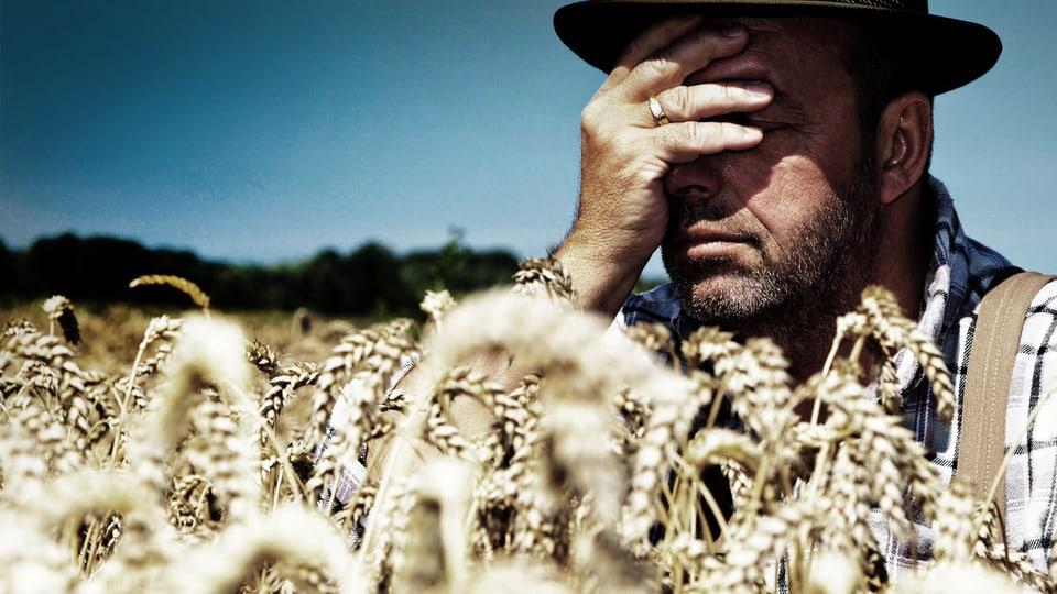 Bauern mit Burnout