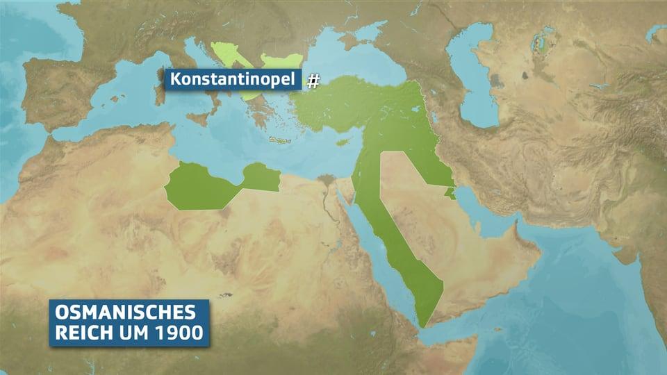 Karte Osmanisches Reich