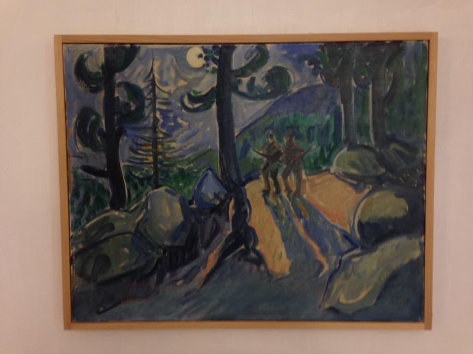 Exponat da vesair enfin mez settember en la Chesa Planta: Turo Pedretti – «chatscha nocturna» (1949).