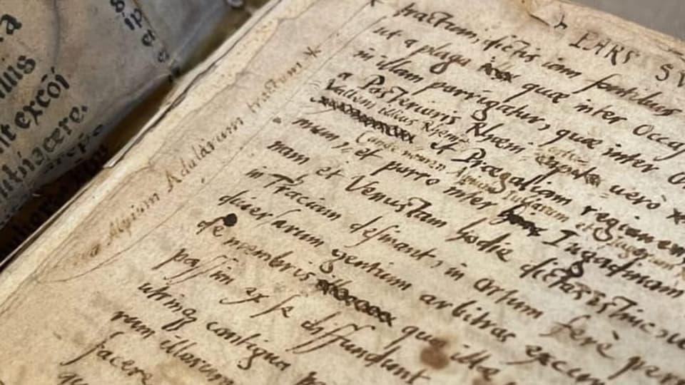 L'emprima pagina dal manuscrit –