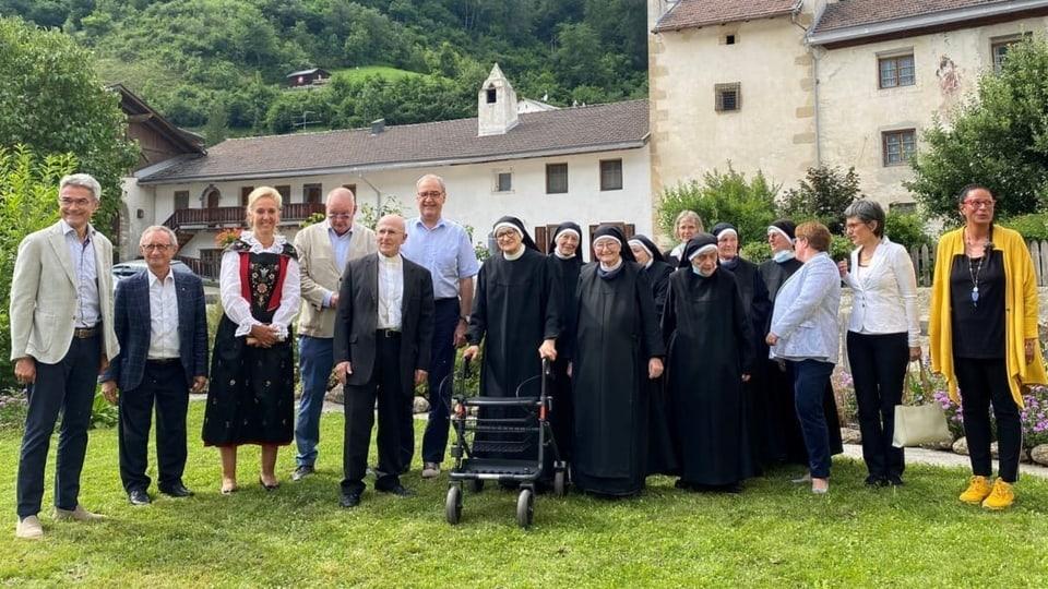 Autas visitas Claustra Müstair - Bonnemain, Parmelin e Cavigelli