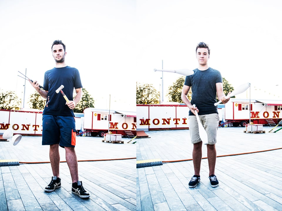 Tobias (21) und Mario (18) sind die Söhne eines Zirkusdirektors. Ihre Ansichten unterscheiden sich aber grundsätzlich. Mario ist der geborene Artist, sein Bruder Tobias ist lieber hinter den Kulissen dabei.