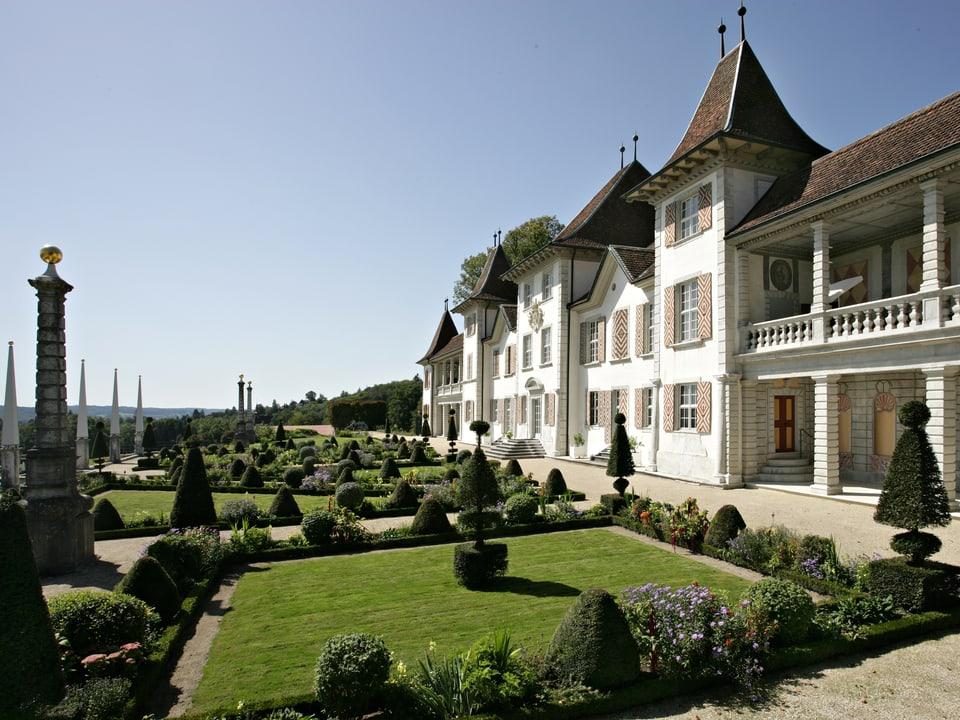 Schlossgarten vom Schloss Waldegg (SO).