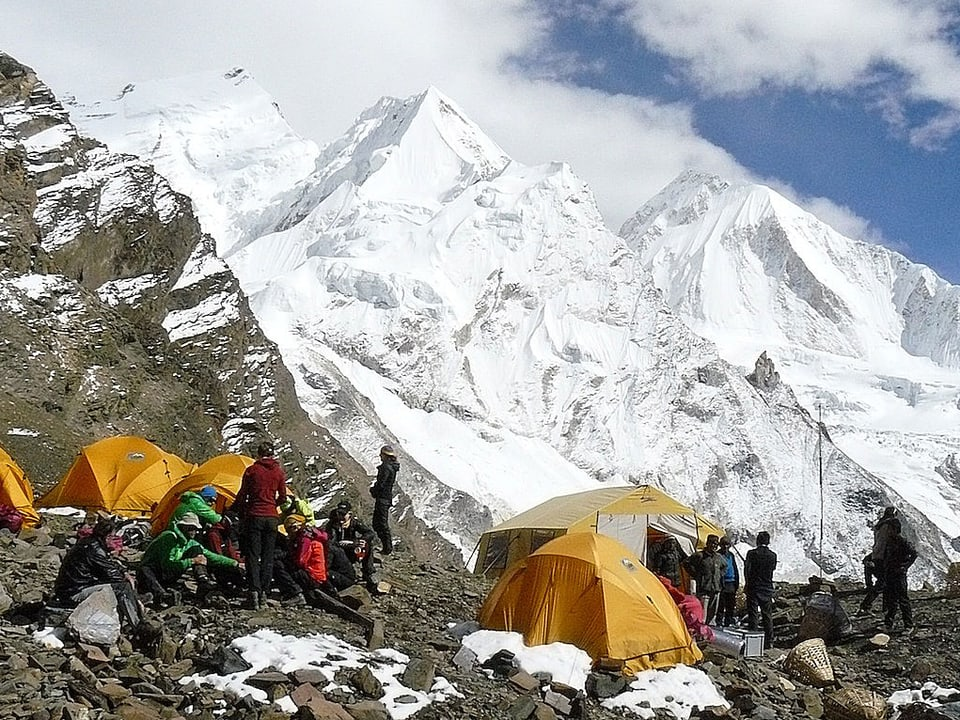 Probanden im Zeltlager auf 5500 Metern über Meer.