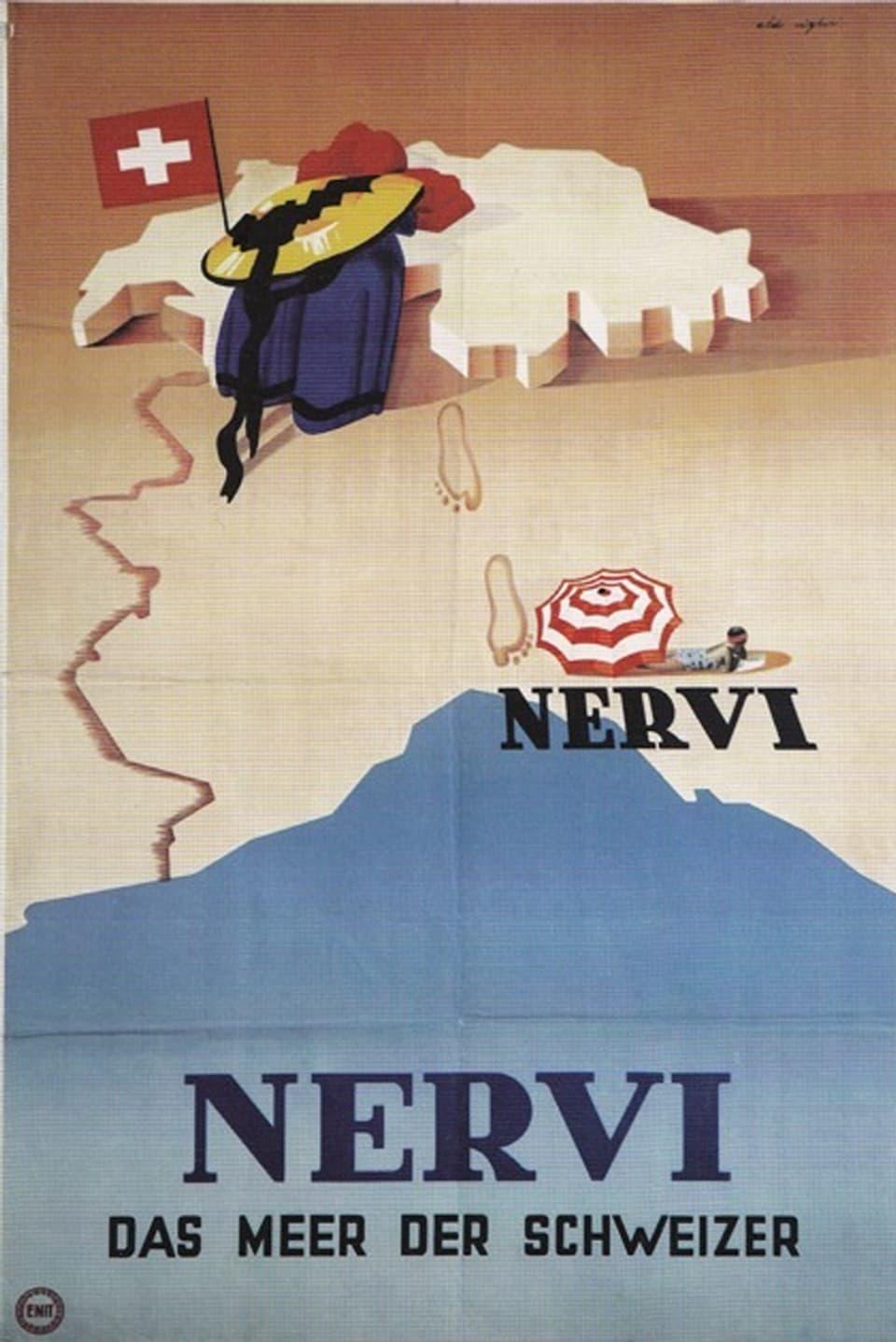In placat da reclama per Nervi dal 1948.