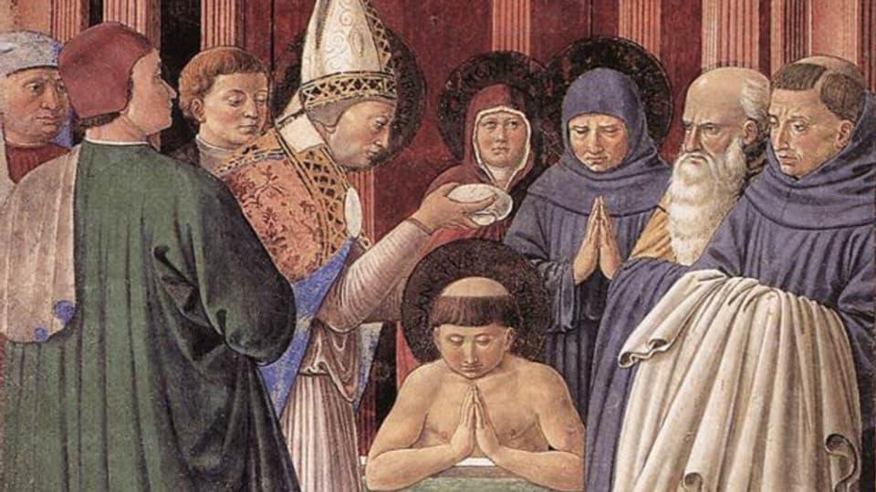 Sontg Ambrosi battegia Sontg Augustin.