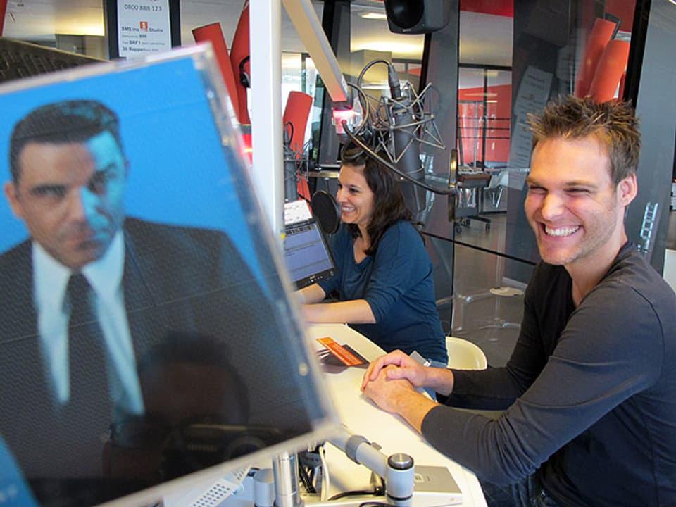 Robbie-Williams-CD im Studio.