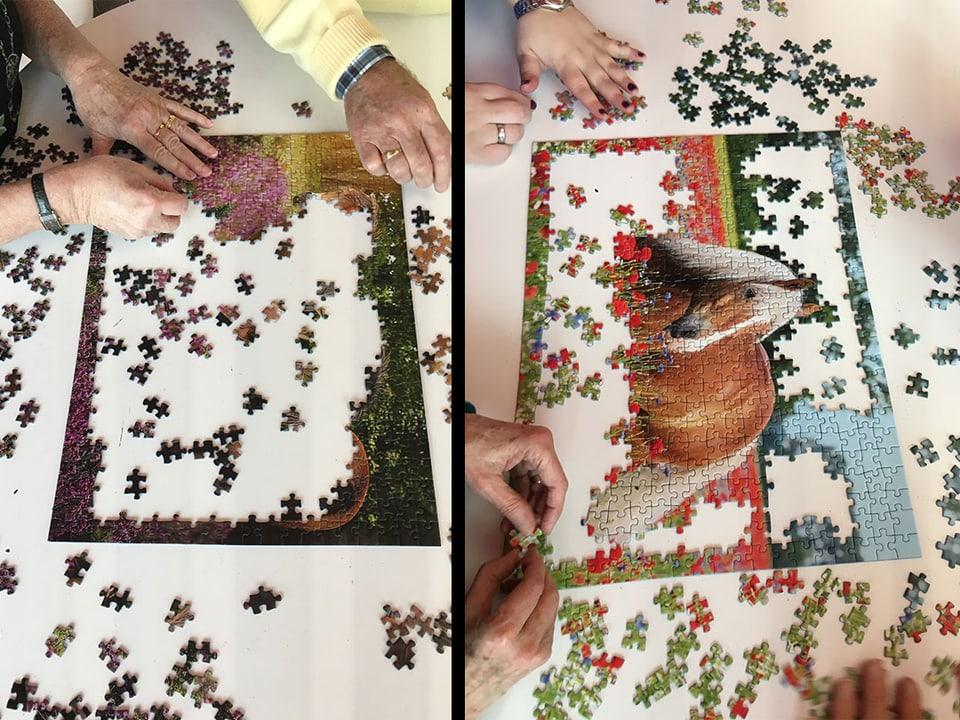 Puzzles mit Pferde-Motiv