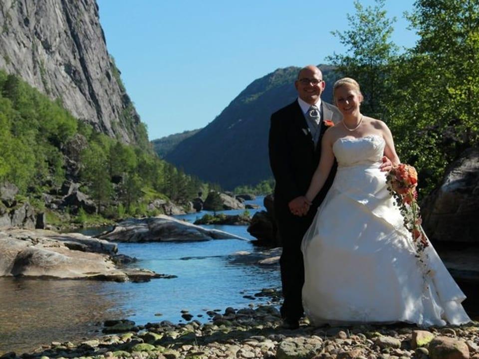 Hochzeitsbild von Florian Hofmann und seiner Frau.