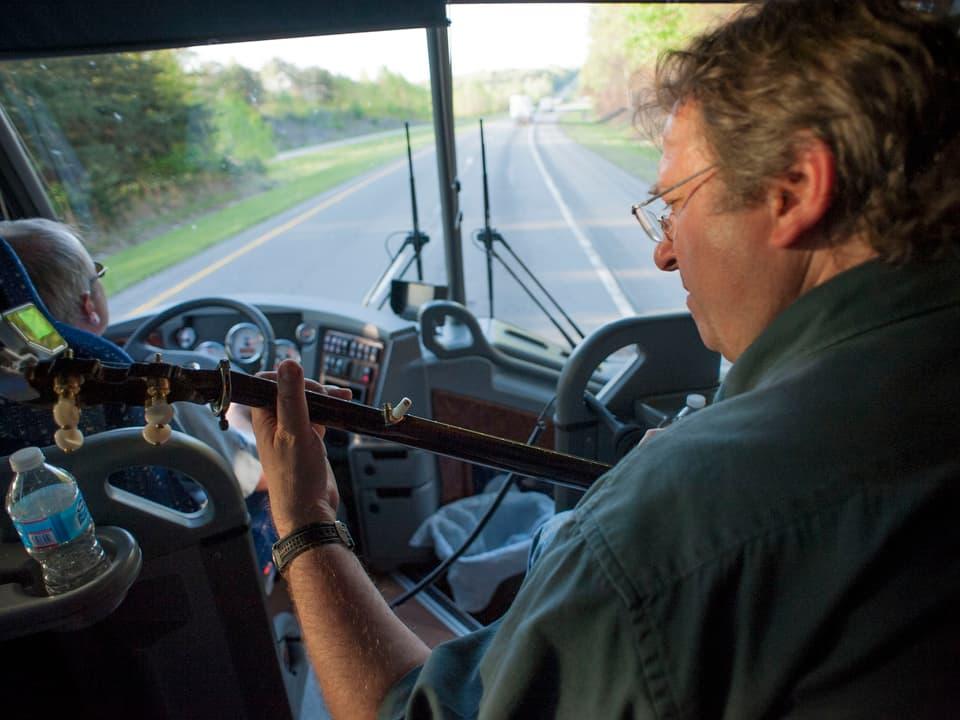 Jens Krüger mit dem Banjo.