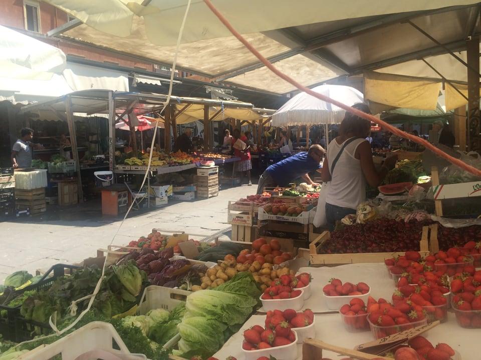 La pitschna e simpatica fiera da la Piazza San Cosimato.