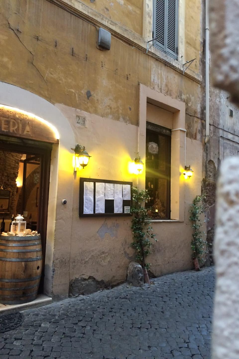 Mangiar bain a Trastevere – nagin problem. Ustarias datti era pulit avunda.