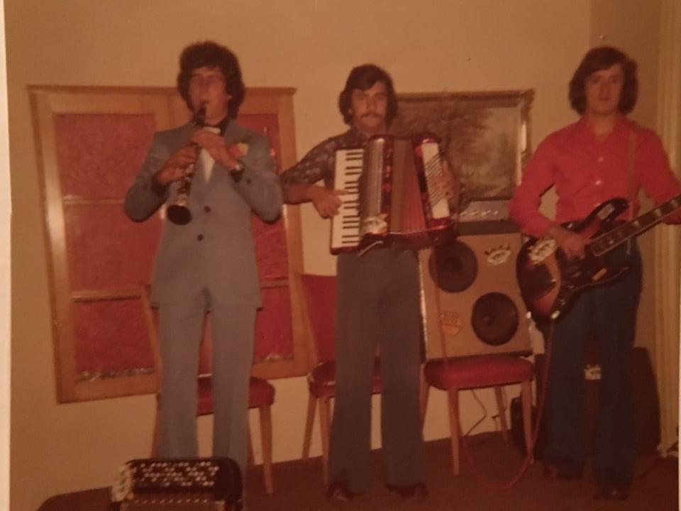 Trio Gangster dal 1973 - Rico Florin a dretga.