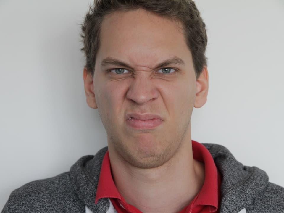 So sieht ein angeekelter Mensch aus.