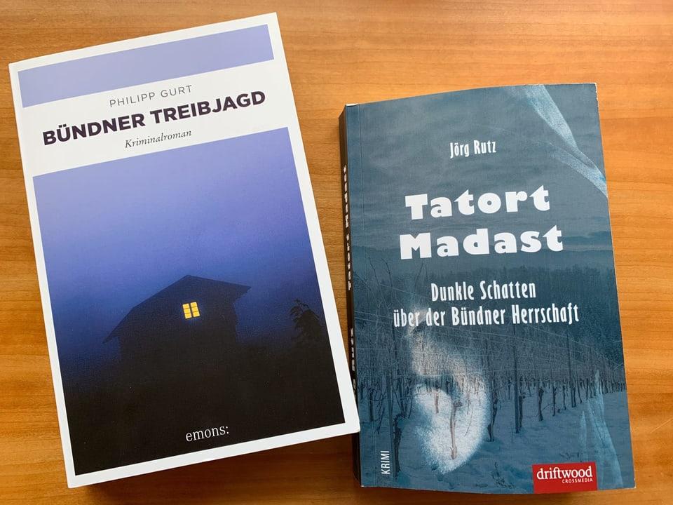 """Dus cudeschs: """"Bündner Treibjagd"""" e """"Tatort Madast""""."""