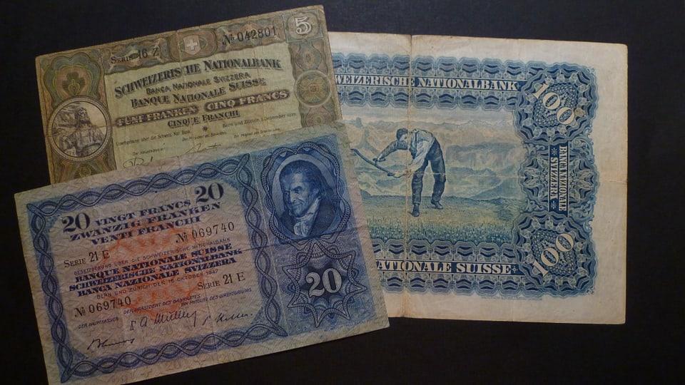 Bancnotas dals onns 1920 fin 1950.