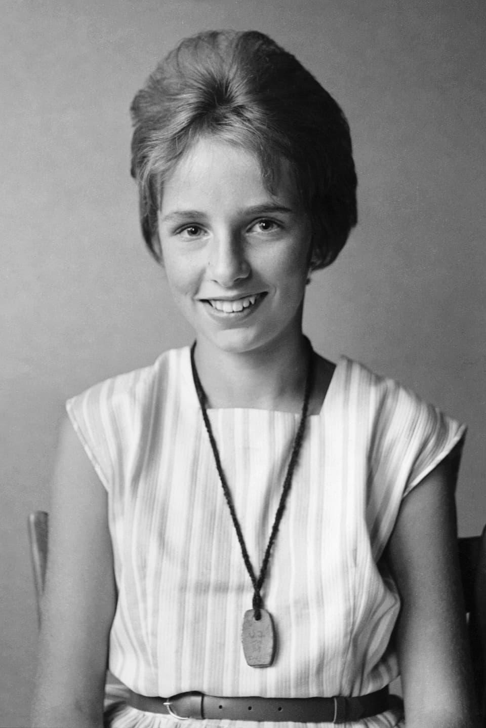 Ursula Haller als 12jähriges Mädchen