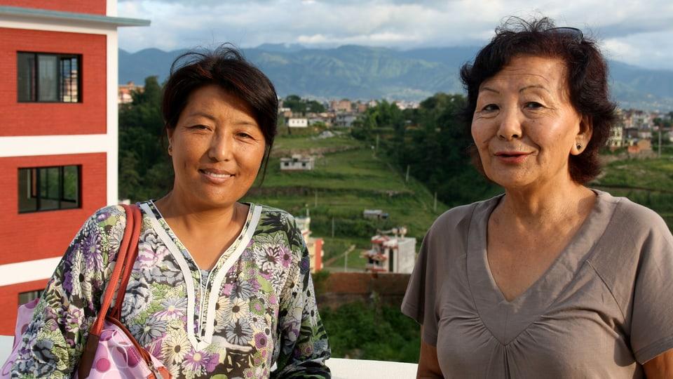 Portrait zwei Frauen.