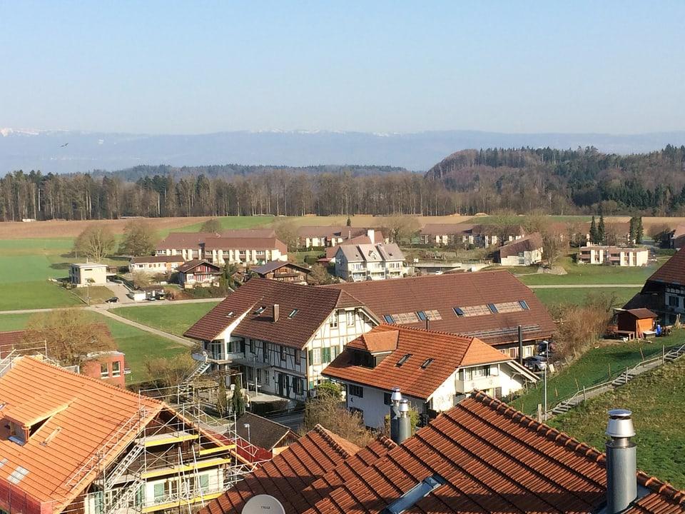 Blick auf Mühleberg.