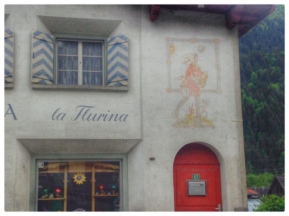 La Flurina – pictura murala sin la chascharia a Trun