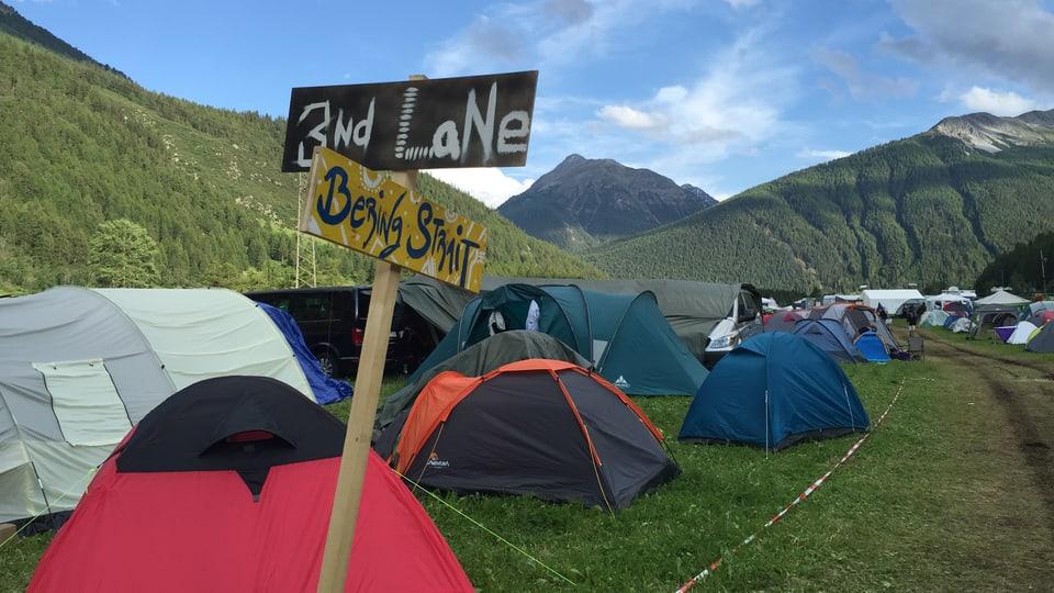 Perfin las vias tranter las tendas han survegni in num.
