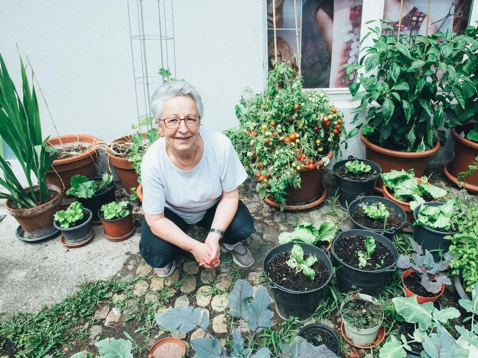 «Kartoffeln, Auberginen, Randen – Wir haben alles im Garten.»
