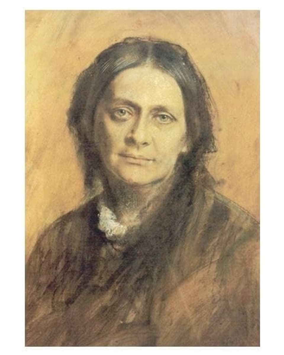 Clara Schumann il 1878 – dissegn da Franz von Lenbach