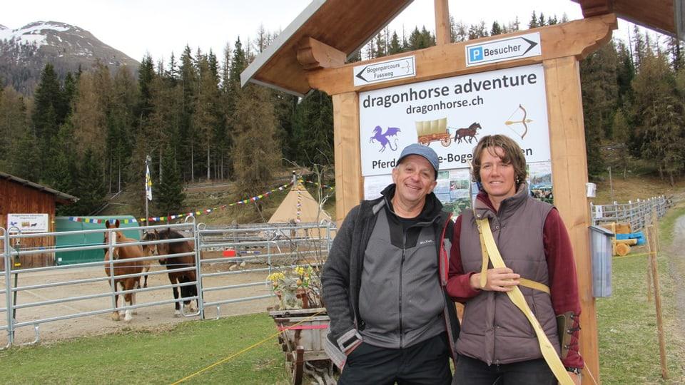 René Ringger ed Eva Baumann han dapì 3 onns l'affar a Chapella.