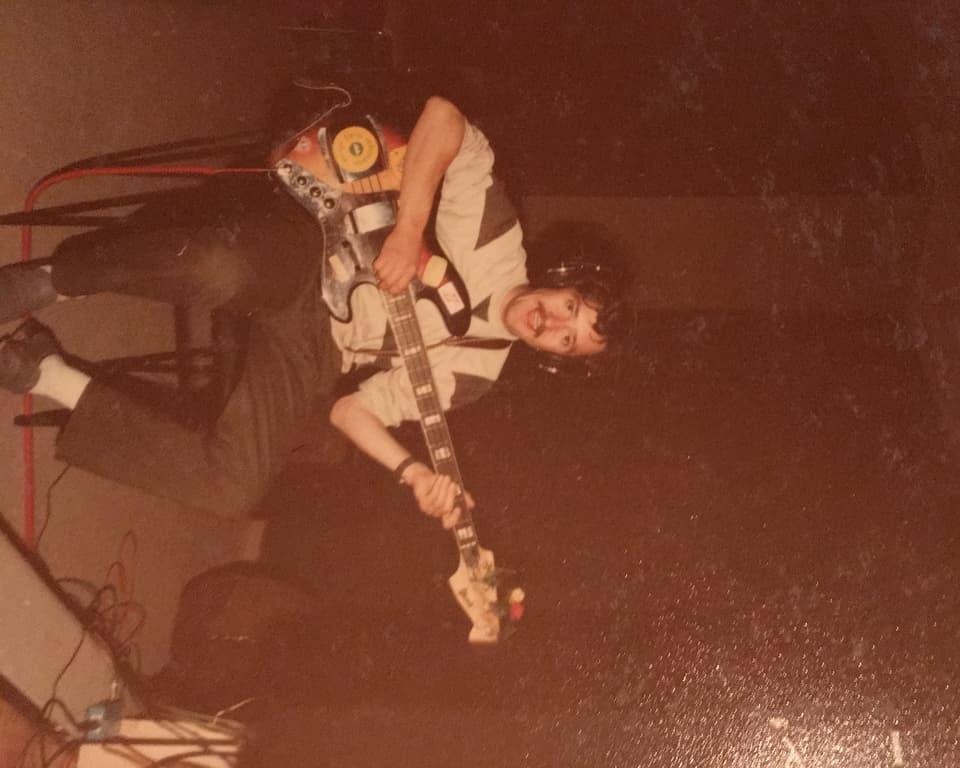 Rico Florin durant ina registraziun en il studio dal 1984.