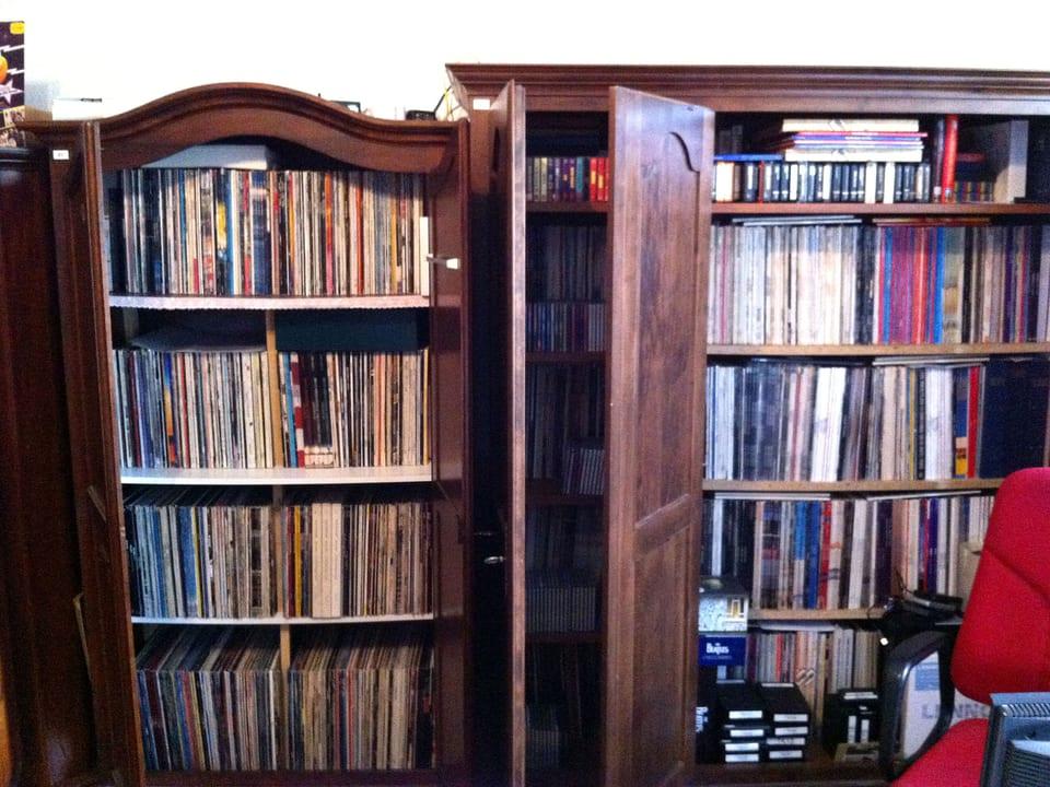 Schallplatten-Sammlung.