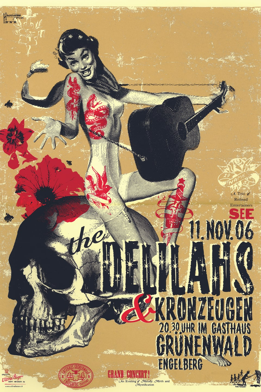Konzertplakat der Band Delilahs
