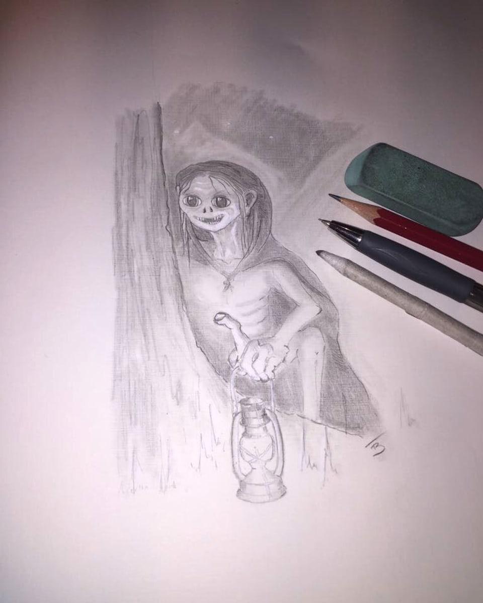 Bleistiftzeichnung des Totemügerlis.