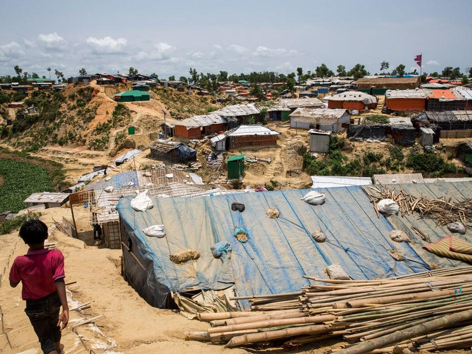Blick auf das Flüchtlingslager.