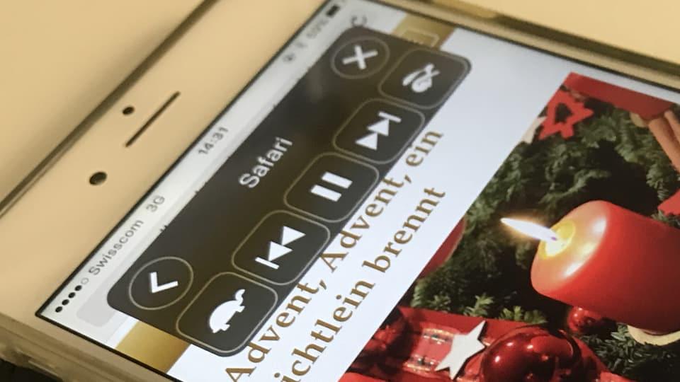 iPhone che prelegia in text.