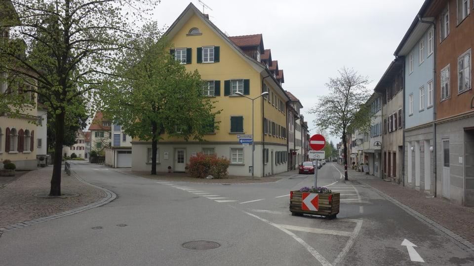 La cruschada «Judengasse» – «Christengasse» a Hohenems.