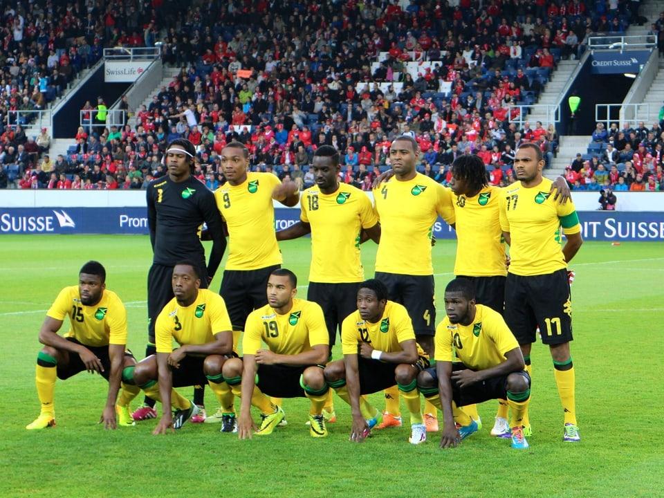 Die Reggae Boyz vor dem Testspiel gegen die Schweiz.